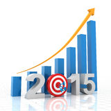 2015 growth target. 3d render Royalty Free Stock Image