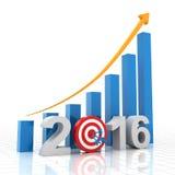 Growth target 2016 Stock Photos