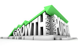 Growth Text And Arrow Royalty Free Stock Images