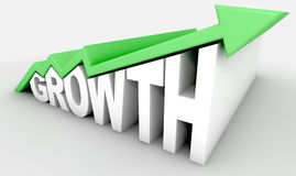 Growth Text And Arrow Stock Image