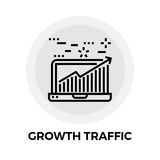 Growth Traffic Line Icon. Growth Traffic icon vector. Flat icon  on the white background. Editable EPS file. Vector illustration Stock Photography