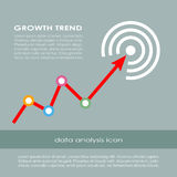 Growth trend diagram Stock Images