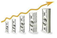 Growth up money Stock Image