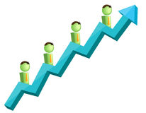 Growth. Vector illustration of growth and success Stock Photo
