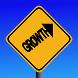 Growth warning sign Stock Photography
