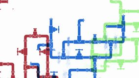 Growth of water supply systems. Flat looped animation. stock video