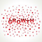 Growth word with in alphabets. Stock vector Royalty Free Stock Image