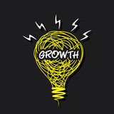 Growth word on bulb design Stock Photography