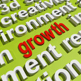 Growth In Word Cloud Means Get Better Bigger Royalty Free Stock Image