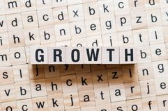 Growth word concept stock image