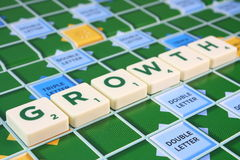 GROWTH word in Scrabble Royalty Free Stock Image