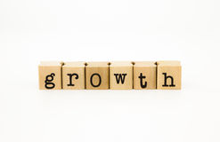 Growth wording, business concept and idea Royalty Free Stock Photos