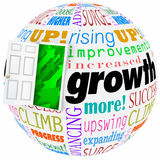 Growth Words Open Door Rising Improving Increasing More Results. Growth word and related phrases like expanding, progress, climbing, increasing, and improving on Stock Photos