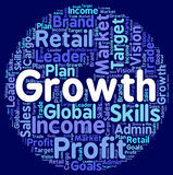 Growth Words Shows Develop Expansion And Development Stock Image
