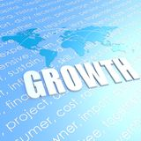Growth world map Stock Image