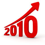 Growth of the year 2010 royalty free stock photography