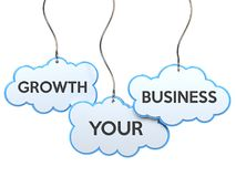 Growth your business on cloud banner Stock Image