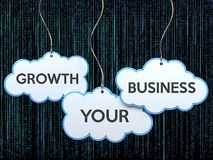 Growth your business on cloud banner Royalty Free Stock Photos
