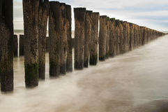 Groyne. A groyne breaking the north sea in the netherlands Royalty Free Stock Images