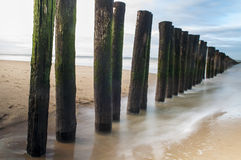 Groyne. A breakwater groyne in the netherlands Stock Photos