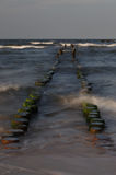 Groyne at the baltic sea Royalty Free Stock Photos