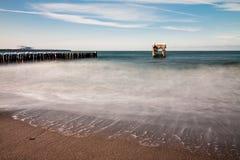 Groyne and jetty ruin Royalty Free Stock Photo