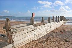 Groyne na Dawlish Warren plaży zdjęcie royalty free
