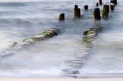 Groyne przy morzem bałtyckim Obrazy Royalty Free