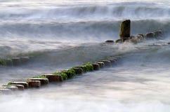 Groyne przy morzem bałtyckim Fotografia Stock