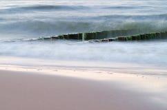 Groyne przy morzem bałtyckim Zdjęcie Stock