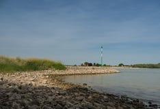 Groyne przy Rhine, Kalkar, Niemcy Zdjęcia Stock