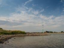 Groyne przy Rhine, Kalkar, Niemcy Zdjęcie Stock