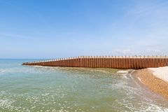 Groyne at Seaford, Sussex royalty free stock image
