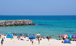 Groyne and Turquoise Waters: Cottesloe Beach Royalty Free Stock Photography