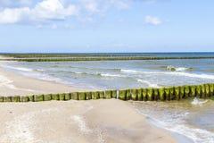 Groynes at the Baltic Sea Royalty Free Stock Photos