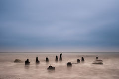 Groynes on the Baltic Sea Stock Photos