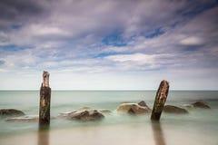 Groynes on the Baltic Sea Stock Photo