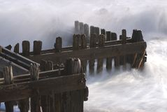 Groynes on a Beach Stock Photography