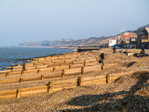 Groynes, Waterbreaker Herne Bay, Kent, UK Stock Photography