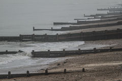 Groynes at Worthing, England Royalty Free Stock Images
