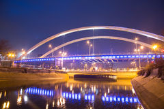 Grozavesti-Brücke, Bukarest Stockfotografie