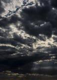 Grozić chmury zima Fotografia Royalty Free