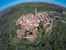 Groznjan from above Stock Photography