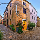 Groznjan medieval village cobbled street Royalty Free Stock Photography