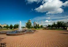 Grozny stad - Chechen huvudstad Arkivfoton