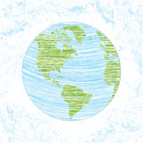 Childish earth doodle Stock Images