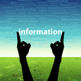 Information word in hand Royalty Free Stock Photography