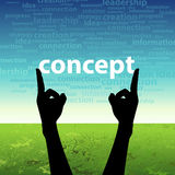 Concept word in hand Royalty Free Stock Photos