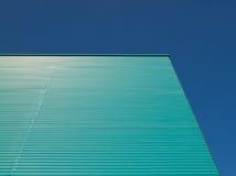 Grreen blue facade Royalty Free Stock Images