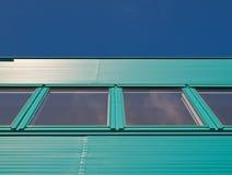 Grreen blue facade. Green blue facade of a building in the Netherlands Stock Photography